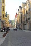 Каменные улицы старого городка Стоковая Фотография
