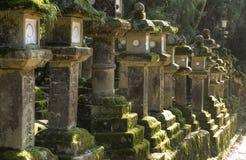 Каменные фонарики, Nara, Япония Стоковое Изображение