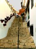 Каменные шаги в Mijas, Испанию стоковые фотографии rf