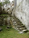 Каменные шаги на Machu Picchu Стоковое Изображение