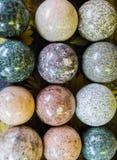 Каменные шарики с текстурой других цветов Стоковая Фотография