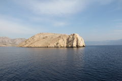 Каменный ландшафт острова Стоковые Фотографии RF
