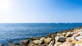 Каменный берег Стоковое Фото