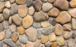 Каменный булыжник округлил серую бежевую часть предпосылки картины стены Стоковые Фотографии RF