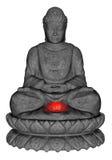 Каменный Будда - 3D представляют Стоковые Фото