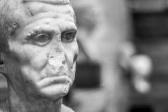 Каменный бюст Национального музея римского искусства Mérida Стоковое фото RF