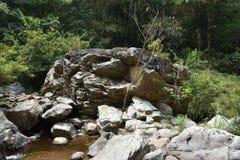 Каменный водопад стоковые фото