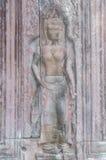 Каменный высекать виска Angkor Wat Стоковое Изображение RF