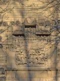 Каменный высекать в стене города Кёльна средневековой в памяти сражения на ` строба Urepforte ` Стоковое Изображение RF