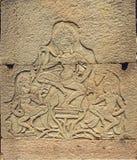Каменный высекать в Angkor Wat, Стоковое Изображение