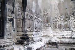 Каменный высекать на Angor Wat Стоковые Фото