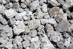 Каменный гравий на строительной площадке как предпосылка стоковое изображение rf