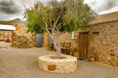 Каменный дом в канарской деревне Стоковые Фотографии RF