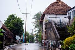 Каменный дом с крышей cogon в Batanes, Филиппинах Стоковые Фотографии RF