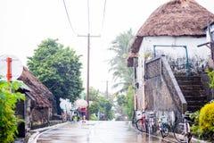 Каменный дом с крышей cogon в Batanes, Филиппинах Стоковое фото RF