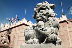 Каменный лев Стоковая Фотография