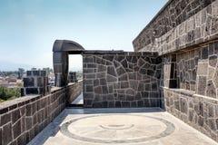 Каменный детализировать на экстерьере Museo Anahuacalli Стоковое Изображение RF
