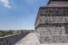 Каменный детализировать на экстерьере Museo Anahuacalli Стоковые Фотографии RF