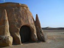 Каменный замок в пустыне. Дюны Стоковая Фотография RF