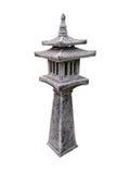 Каменный изолят стиля Японии фонарика с путем клиппирования Стоковое Фото