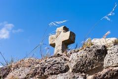 Каменный крест Стоковые Изображения