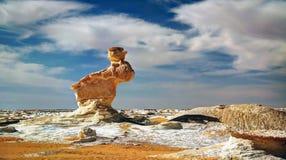 Каменный кролик, белая пустыня, farafra, Египет стоковое фото rf