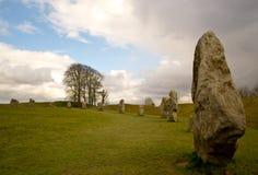 Каменный круг в Avebury Стоковые Фото