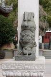 Каменный лев - скульптура Стоковые Изображения