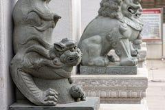 Каменный лев - скульптура Стоковое Фото