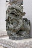Каменный лев - скульптура Стоковые Фотографии RF