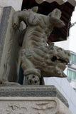 Каменный лев - скульптура Стоковое фото RF