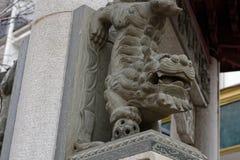 Каменный лев - скульптура Стоковые Фото
