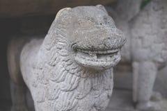 Каменный лев, старый Стоковая Фотография RF
