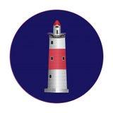 Каменный маяк иллюстрация вектора