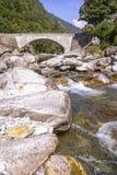 Каменный мост, Тичино Стоковое Изображение RF