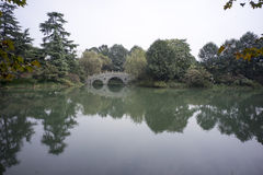 Каменный мост, westlake Ханчжоу стоковая фотография rf