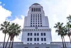 Каменный небоскреб города Лос-Анджелеса Здание правительства Стоковое Изображение