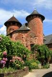 Каменный дом был построен в Collonges-Ла-румян, Франции Стоковое Фото