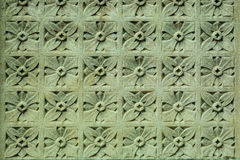 Каменный орнамент на стене Стоковая Фотография RF