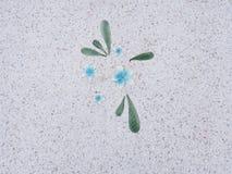 Каменный пол в саде камень текстуры в парке Стоковые Изображения