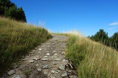 Каменный путь в горах стоковое изображение