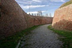 Каменный путь старого замка стоковые фотографии rf
