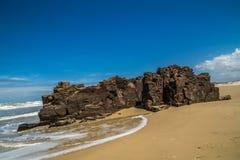 Каменный пляж Стоковая Фотография