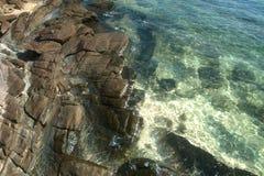 Каменный пляж стоковые изображения rf