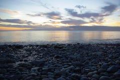 Каменный пляж Стоковое фото RF
