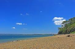 Каменный пляж Finistere Бретань Стоковая Фотография RF