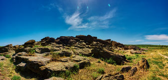 Каменный ряд Kamyana Mohyla Стоковое Изображение RF