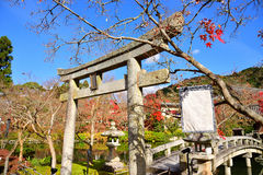 Каменный строб в виске наследия Eikando Zenrinji Стоковые Изображения