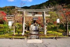 Каменный строб в виске наследия Eikando Zenrinji Стоковое Фото