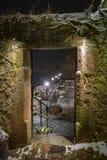 Каменный строб на замке Марбурга стоковые фото